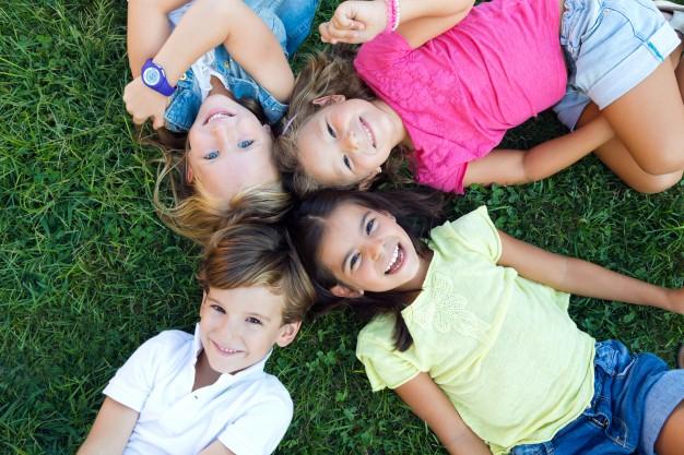 group childrens having fun park 1301 6887